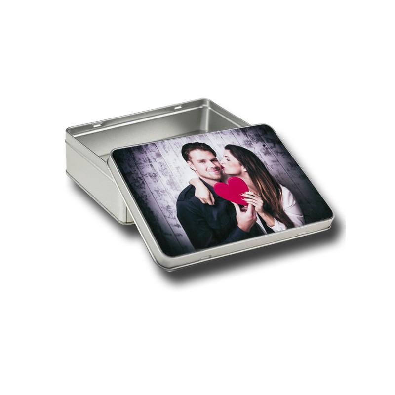 Scatola grigia - coperchio stampato