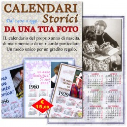 Calendario storico annuale